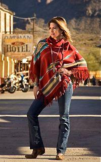 Tasha Polizzi Sonora Blanket Poncho Rojo from Smith and Western  www.maverickstyle.net