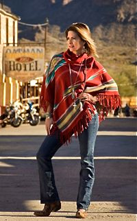 Tasha Polizzi Sonora Blanket Poncho Rojo from Smith and Western  www.maverickstyle.net