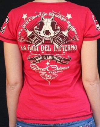 Back of our 'La Gata Del Infierno' Tee