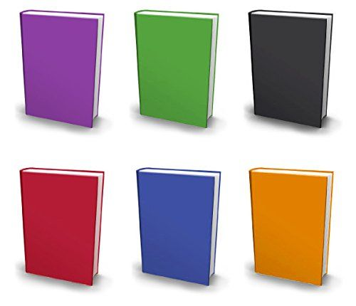 Stretchable Book Covers, Jumbo, Set of 6, Solid Colors Fabric Bookcovers, Fits Extra Large Hardcover Textbooks up to 9 x 12, Stretchy Book Covers, Washable & Reusable, Value Pack, with Bookmark  PROTECT your valuable hardcover textbooks with adhesive-free protective book covers.  SUPER EASY TO INSTALL and remove from school books. No taping or cutting required.  REUSABLE AND WASHABLE. Made from high-strength, durable stretchable fabric for maximum protection and years of use.  RIBBON B...