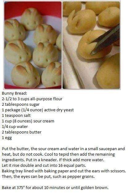 Recipe for Bunny Bread @Stephanie Close Close Fontana