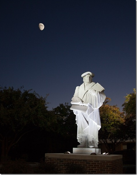 Martin Luther statue at Lenoir Rhyne