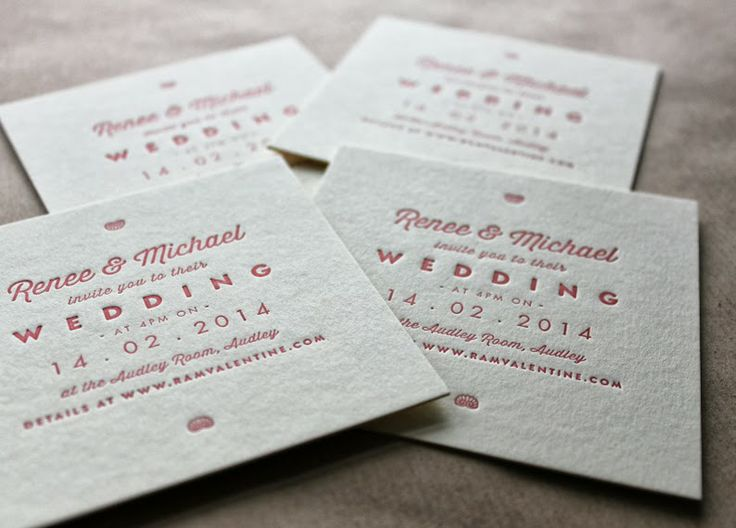 Letterpress Printed Wedding Stationery Invitation On Card Thick 700gsm Mapletea Co Uk Http Pricing Pinterest