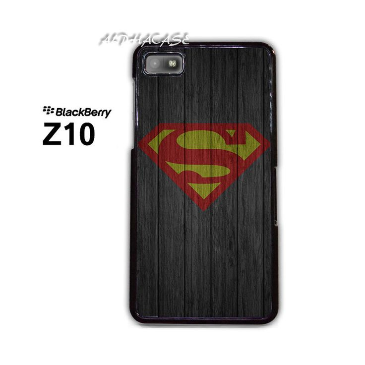 Super Man S on Wood BB BlackBerry Z10 Z 10 Case
