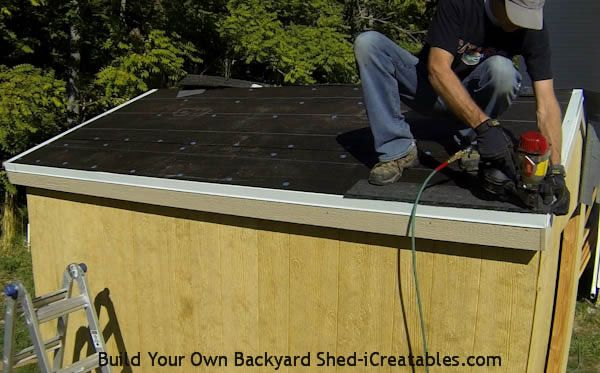 How To Install Asphalt Shingles Install Starter Strip Installing Roof Shingles Building A Shed Roof Shingles