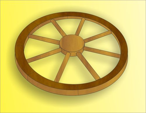 How to Make a Replica Wagon Wheel: 18 steps (with pictures)