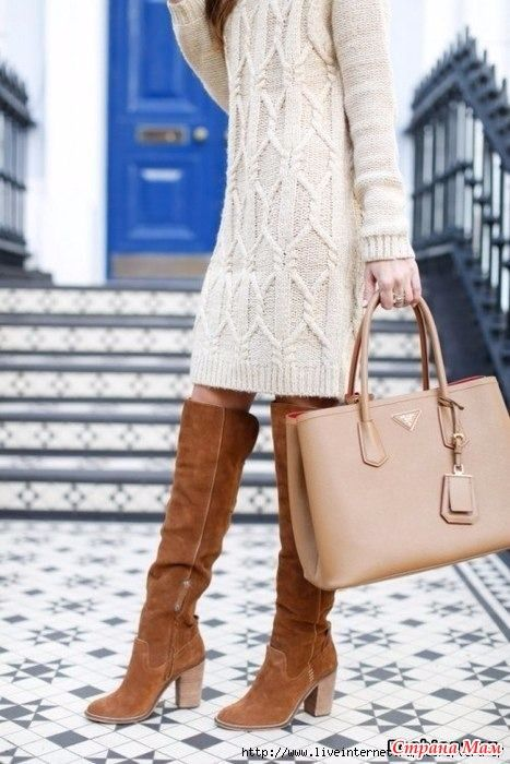 платье туника пуловер спицами от светланы заец вяжем платья