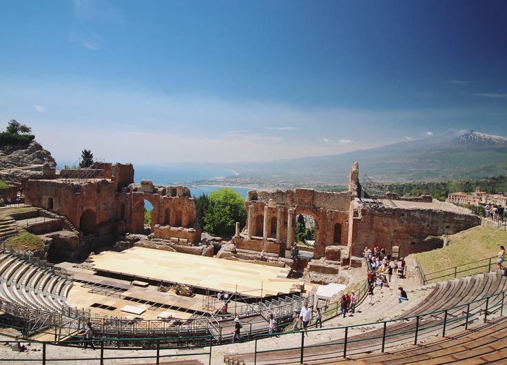 If you ever get the chance to go to Sicily, you can't miss the Ancient Greek amphitheater in Taormina! It overlooks the Mediterranean and has a great view of Mt. Etna, which is still an active volcano.   In other news, now that I've graduated, I launched my blog, cassidysadventures.com as an official business! Check out the link in bio!