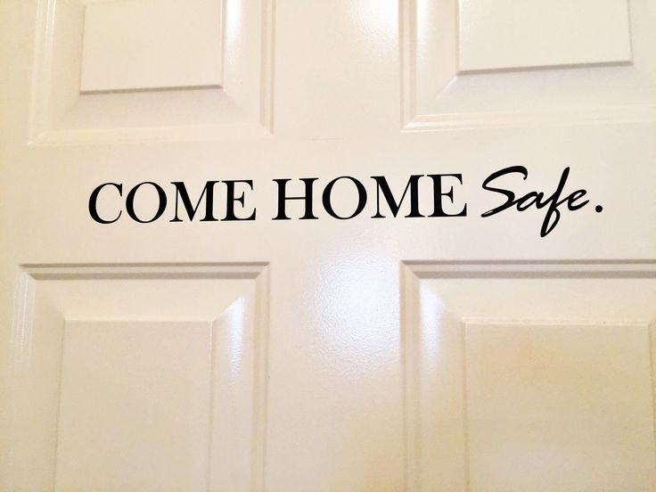 Police Wall Decal - Come Home Safe Wall Decal - Come Home Safe Door Decal - Police Door Decal - Wall Sticker - Police Sticker by BehindThatBadge on Etsy