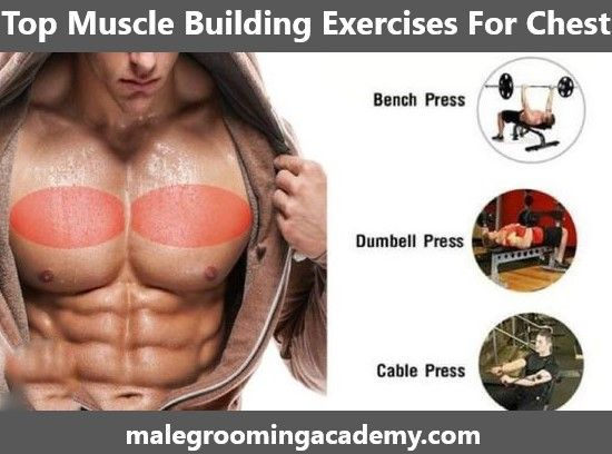 Top Muscle Building Exercises for Chest #fitness #health #life #musclebuilding
