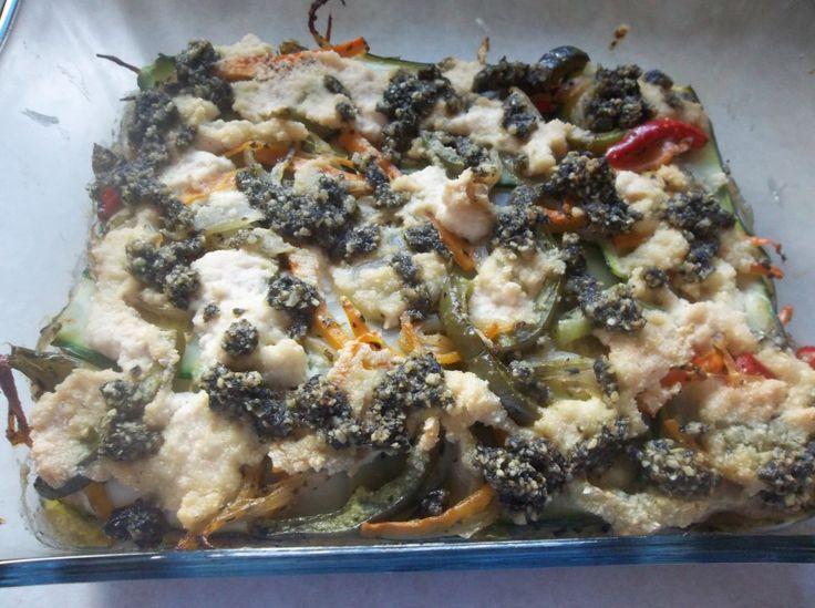 Zucchini Pesto Lasagna with Cashew Cream (Gluten Free/ Dairy Free/ Vegan)