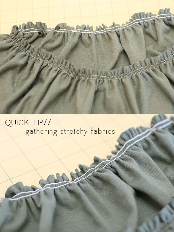 megan nielsen design diary: Quick tip: gathering stretch fabrics