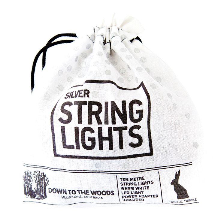 Silver String Lights Plug In   10M