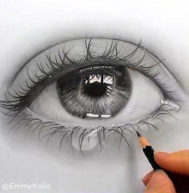 Realistische Bleistiftzeichnung 👁 – #Bleistiftz…