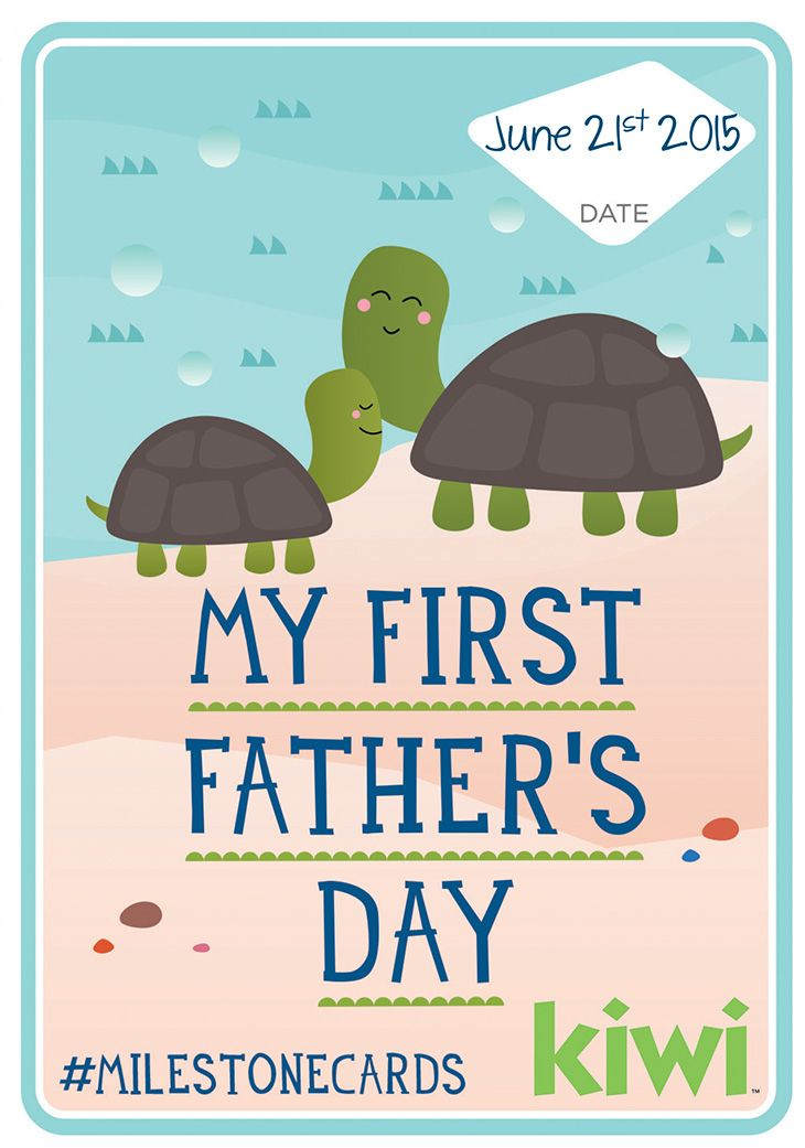 Celebrate Dad and Baby's first Father's Day with a free, printable Milestone card. #fathersday #milestonecards