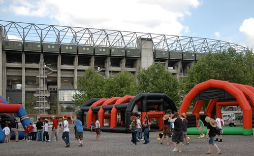 Rugby enclosures inflatable game