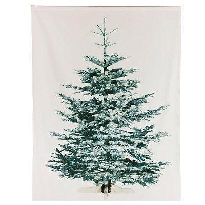 ikea liamaria weihnachtsbaum tannenbaum wandbehang vorhang weihnachten stoff ovp rote. Black Bedroom Furniture Sets. Home Design Ideas