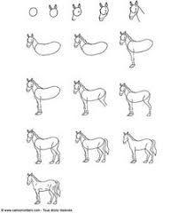 Résultats de recherche d'images pour «cheval dessin facile»