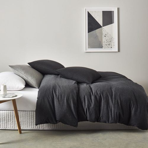 Ultra Soft Quilt Cover Black Marble