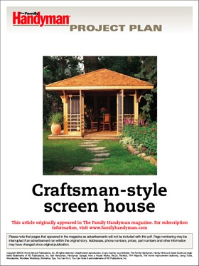 Craftsman Screen House