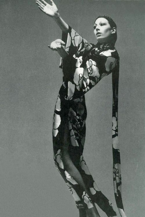 Anjelica Huston by Richard Avdeon, 1970.