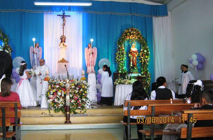 Zona Pastoral Santa Marta Barrio La Minga Primera Comunión 2014