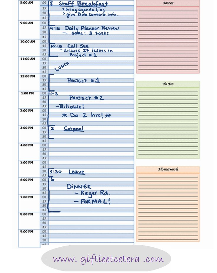 how to make a schedule in your planner for finals