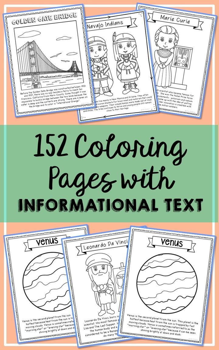 historical figures science and landmarks coloring pages w informational text