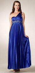 Maternity Evening Gowns-De-Pleated
