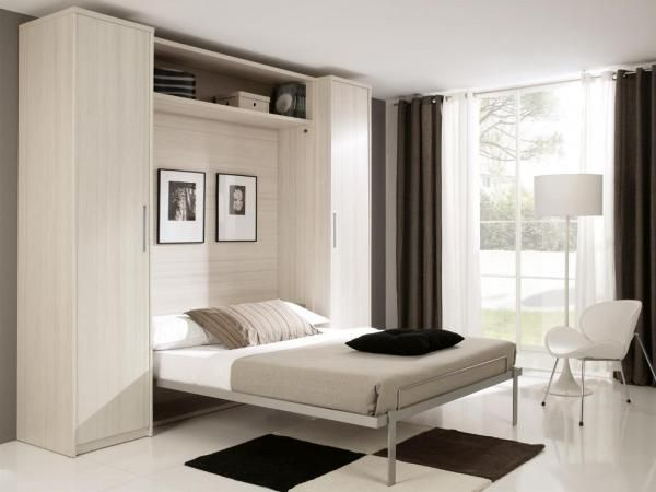 Fold-Down Double or King Size Wall Bed with Optional Wardrobes