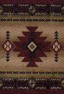 Delectably-Yours.com Flagstaff Burgundy Southwestern Rug by United Weavers Contours Rugs
