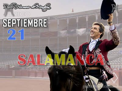 Puede Usted acceder al PREVIO informativo de la corrida a través de este enlace: http://www.pablohermoso.net/corridas/2016/20160921salamanca/index.htm