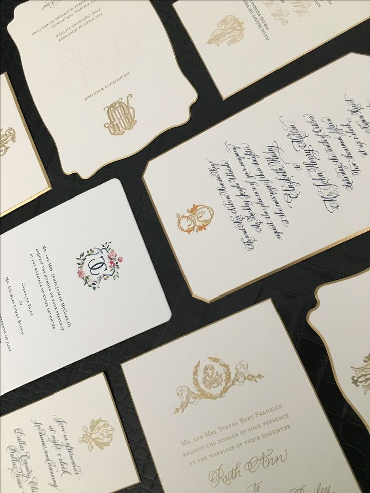 Business and personal letterpress and engraved luxury