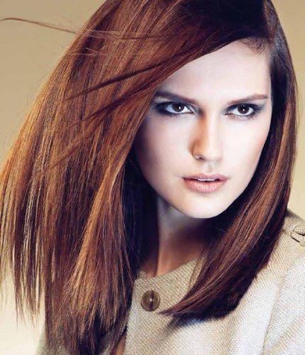 Kapsel voor halflang bruin haar - Kapsels voor lang haar