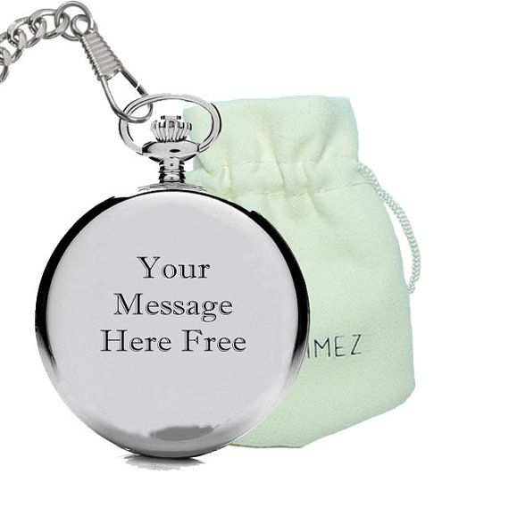 Personalized pocket watch date name engraving special gift for Boyfriend, Son,Dad -Father's day Gift