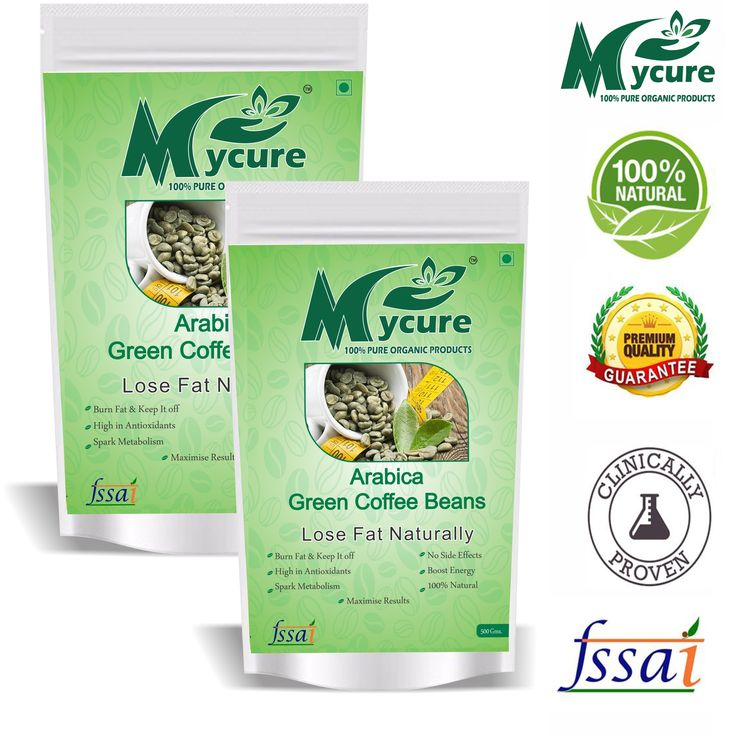 Buy mycure green coffee beans decaffeinated unroasted