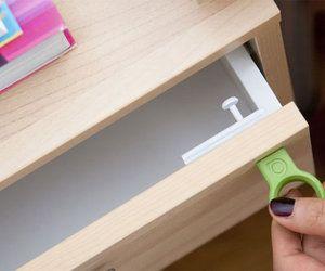 magnetic drawer lock.