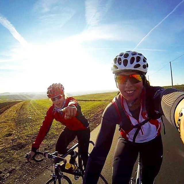 Day 201 First workout on our new Cannondale road bikes! Not sure how did we make it on MTB this season # beautiful #Cannondale #RoadBike #first #ride #cycling #marvolous #roads #speed #lovers #Polish #fields #sisters #workout #together #rowing #variety #CyclingShots #gopro #selfie #Jesienny #Trening #Nowa #Bryka #wiatrwewlosach #ojcowskiparknarodowy