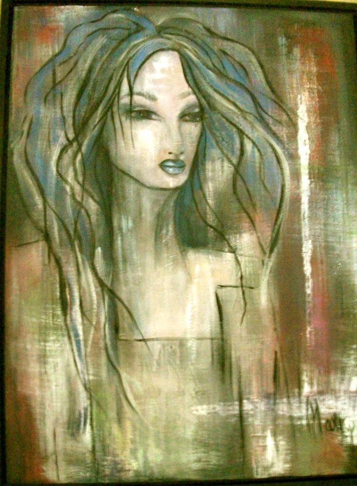 création Marie Poirier format 36x40 po,,,,médium acrylique,,,