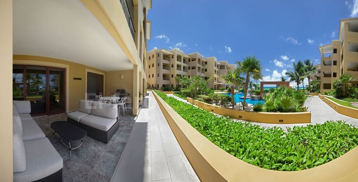 Terrace with a view, Beachfront Vacation Rental Condo Playa del Carmen