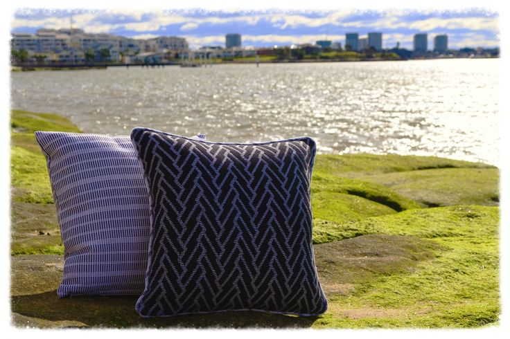 The geometric black and white design of the Arrowed cushion will bring a stylish touch to your home. This versatile cushion is reversible. Available at www.dalaur-creative.com #Arrowed