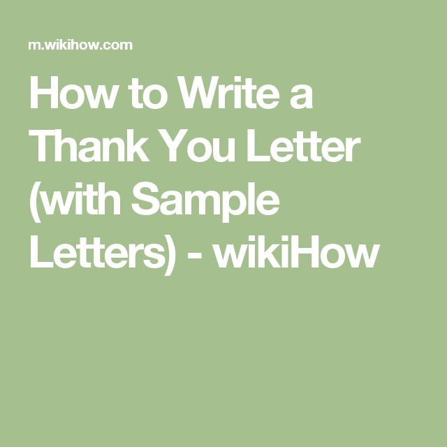 wikihow to write a thank you letter