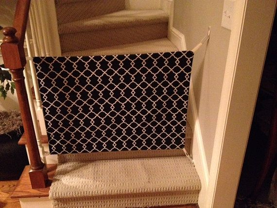 Fabric Baby Gate by GreatGates on Etsy