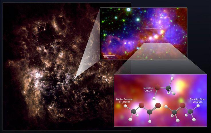 Nearby Dwarf Galaxy Contain Surprisingly Complex Organic Molecules