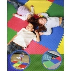 """Amazon.com: Multi-Purpose Reversible (Bright Colors or Neutral Charcoal) Foam Floor Mats (BIG Tiles 25"""" x 25"""" x .53""""!!!), Anti-fatigue Mat, for Business, Home, Basement, Workshop, Kitchen, Children's Rooms (Child Safe), Pool Area, Gym and Exercise, Gardens, Garage, Laundry Rooms, Etc.: Baby"""