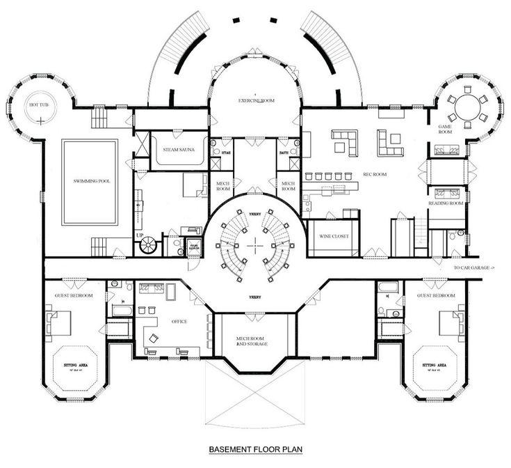Mega Mansion Floor Plans: 160 Best CASTLE & MANSION FLOORPLANS Images On Pinterest