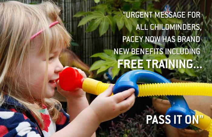 Did you know that PACEY childminders now receive a set of brand new benefits, including;      Free online training courses     Expert helplines, including a Health and wellbeing helpline, a Childcare and early years helpline and a Legal helpline     Practice guides, factsheets and how-to videos     Latest policy briefings     52 page magazine, delivered to your door
