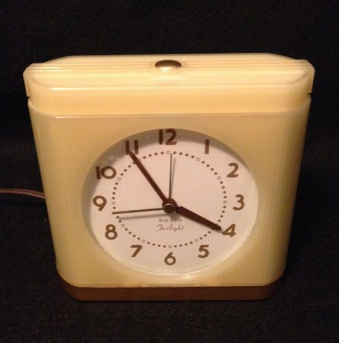 Vintage westclox big ben twilight alarm clock retro art Art deco alarm clocks