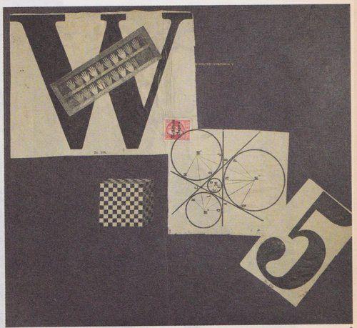 Johannes Baargeld, Max Ernst, Manifeste We 5 (West stupidien), 1920, maquette pour la couverture du Manifeste We 5 [model for the cover of the We 5 manifesto], collage sur carton [collage on cardboard], 28,5 x 30,8cm, collection particulière [private collection], courtesy Galerie Natalie Seroussi, Paris.