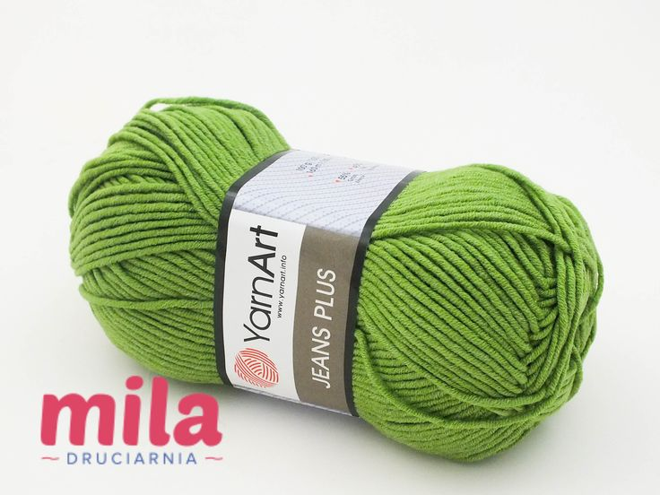 Mila Druciarnia - Jeans Plus Yarn Art 69 zielony
